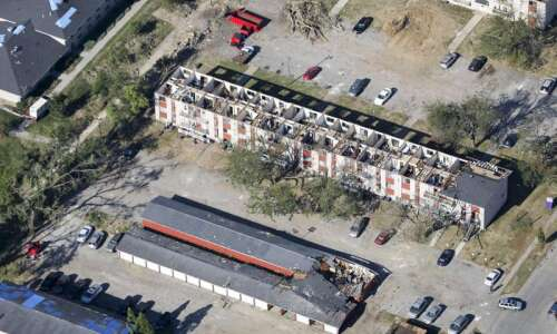 Photos: Aerial images from Iowa derecho 2020