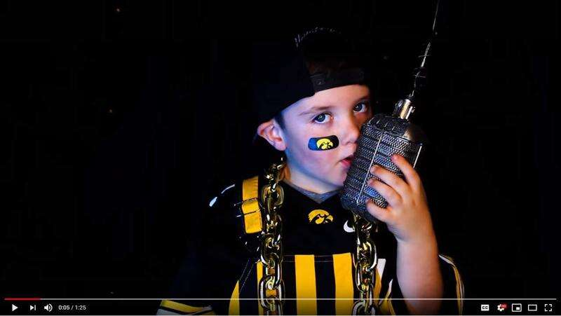 The kid in this Iowa Hawkeyes hype video shows up George Kittle