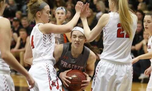 Energized Prairie girls roll past Linn-Mar, 63-27