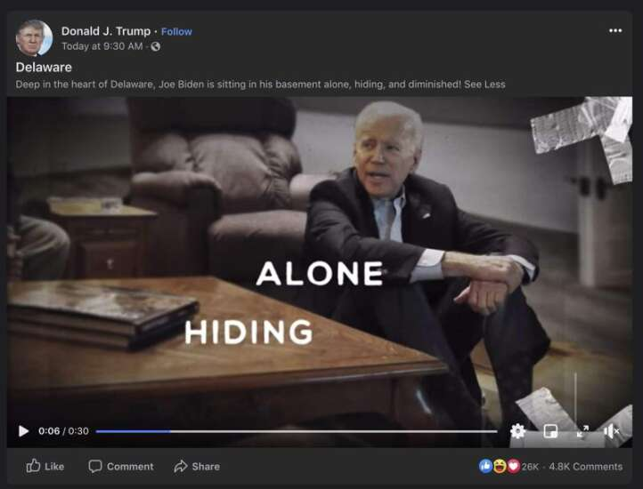 Trump campaign uses unauthorized and altered Gazette photo to criticize Biden