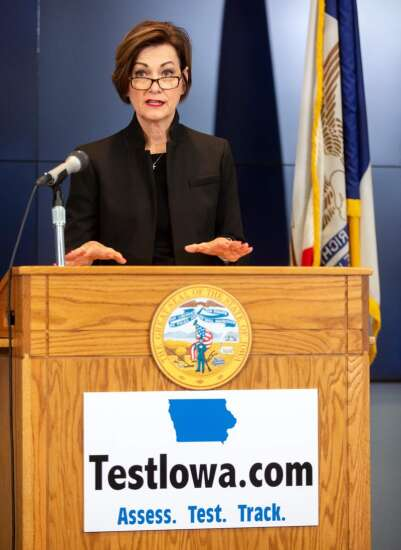 Gov. Kim Reynolds launches statewide coronavirus testing program