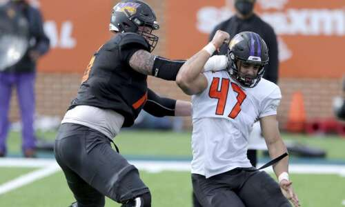 UNI's Elerson Smith, Spencer Brown making impression at Senior Bowl