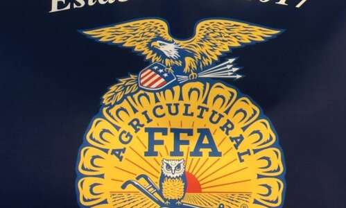Highland FFA using conservation district grant on watershed project