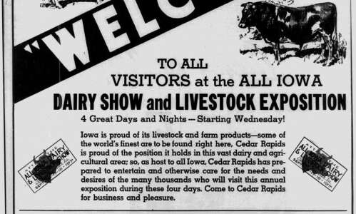 Time Machine: All-Iowa Fair attracted thousands to Hawkeye Downs in…