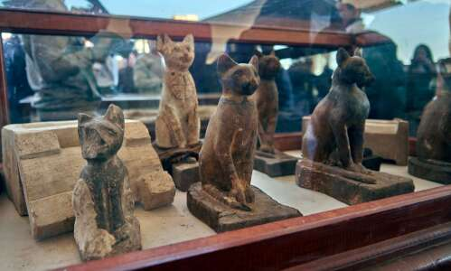 Egyptians honored cats as godlike creatures
