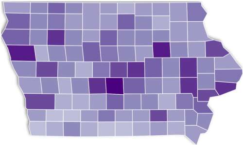 Maps and charts: Coronavirus and vaccinated in Iowa