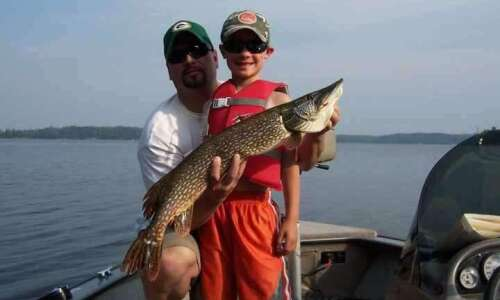 Fishing can bond a father and son