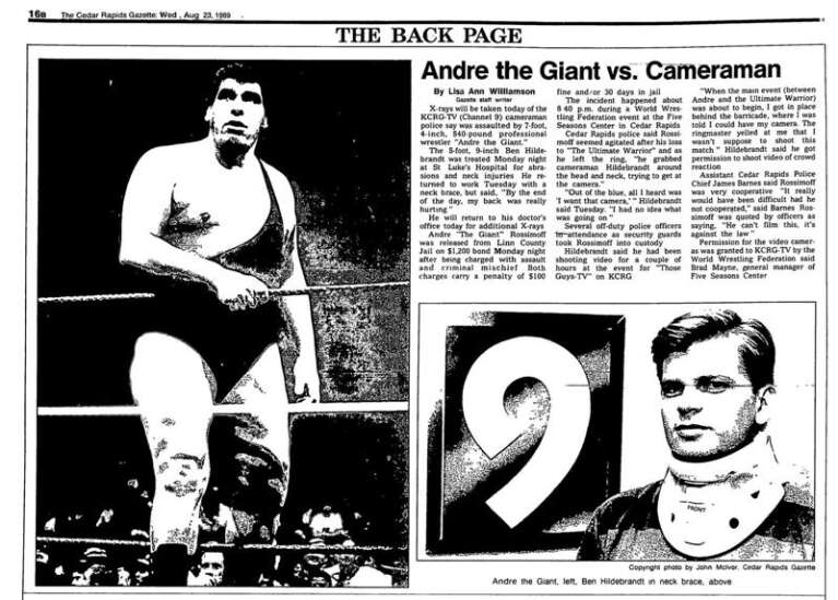 Andre the Giant vs. the Cedar Rapids Police: 30 years later