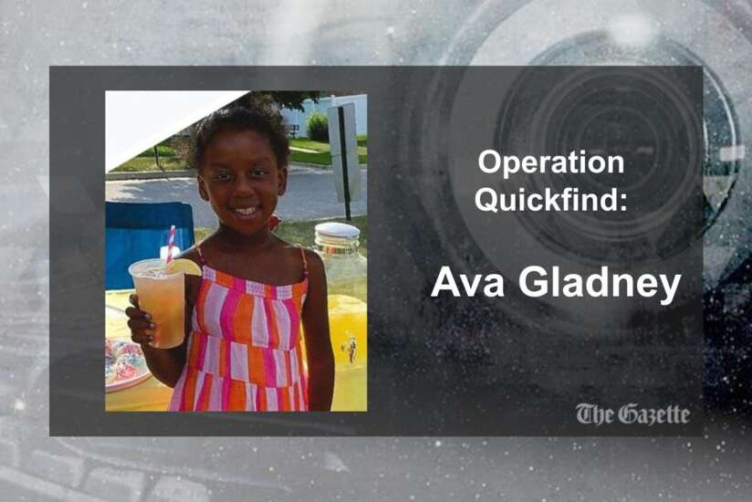Operation Quickfind issued for Ava Gladney, 9, of Cedar Rapids (Canceled)