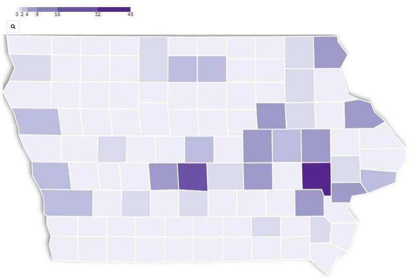 21 new coronavirus cases in Iowa, with 2 in Benton County