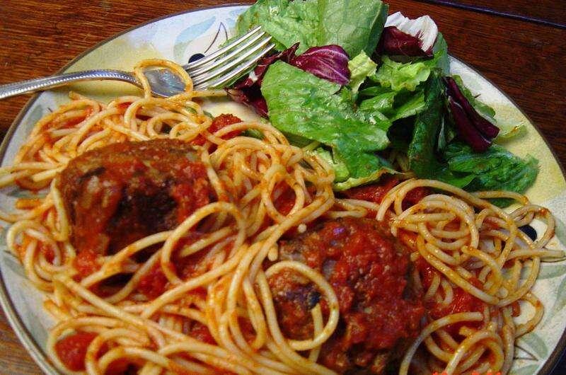 Spaghetti and meatballs recipe even better the second day
