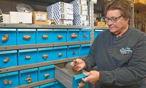 Iowa City master plumber Jane Hagedorn has forged her own…