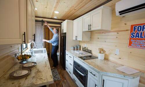 Tiny home built by students in Kirkwood program up for…