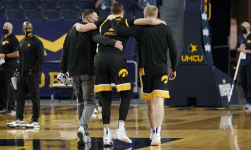 Painful loss for Iowa men's basketball at Michigan, physically and…
