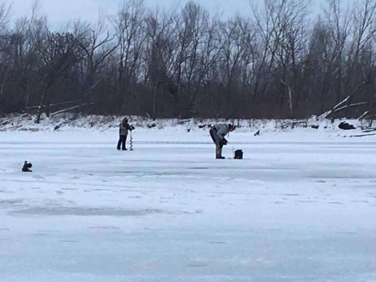 Ice fishing the 'homesteader' way