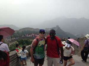 Cornell Rams on the Great Wall
