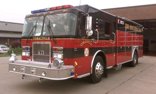 Coralville Fire Department responds to apartment fire
