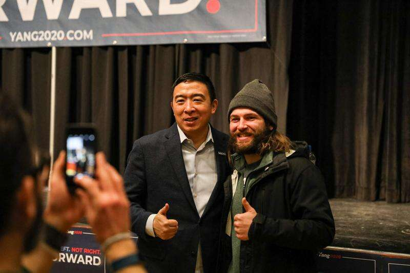 Andrew Yang tells University of Iowa students he would be President Trump's 'worst nightmare'