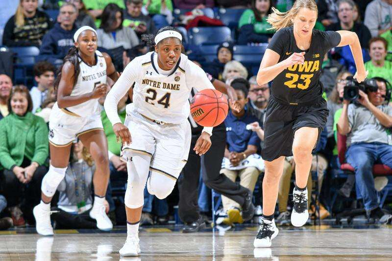 Iowa women's basketball is no match for No. 1 Notre Dame