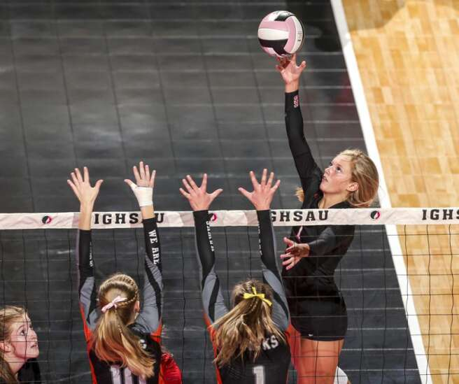 Photos: West Delaware vs. Gilbert, Iowa Class 4A state volleyball semifinals