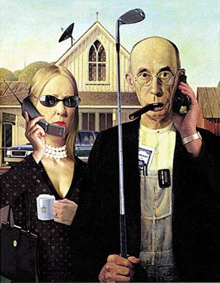 'Seriously Funny': Cedar Rapids Museum of Art shows parodies of Grant Wood's iconic painting