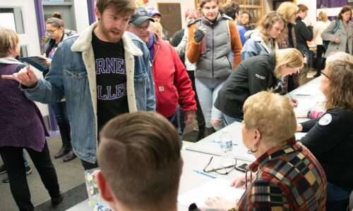 Young people turn out in big numbers for Iowa caucuses