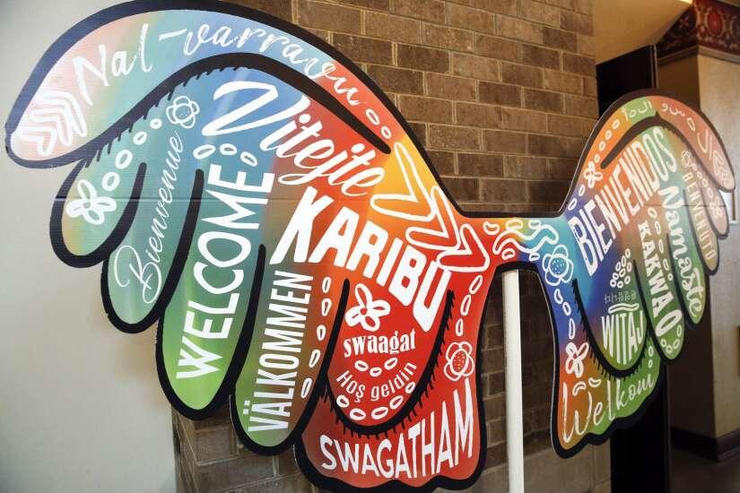 Cedar Rapids Welcoming Week art installations spread welcoming message to immigrants