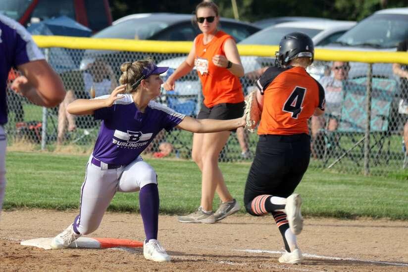 Washington, Burlington split softball doubleheader