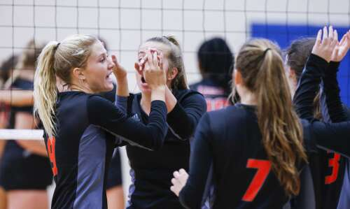 West Delaware takes next step toward state volleyball goal