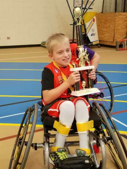 Rolling Panthers wheelchair basketball team of month