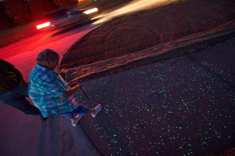 Glow-in-the-dark trail in Vinton is longest in U.S., honors resident who died in January