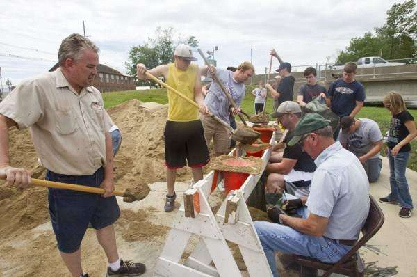City of Vinton waiting to remove HESCO barriers