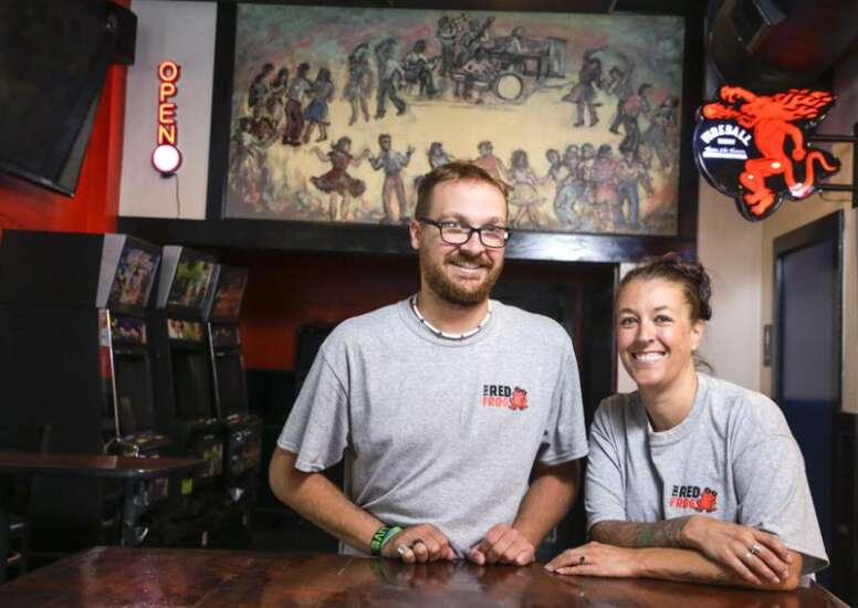 After their Kingston Pub was closed by the derecho, resilient couple reopens Red Frog bar