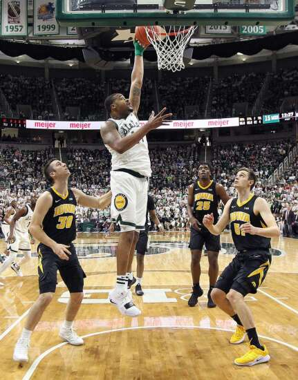 Michigan State a pain in the paint for Iowa