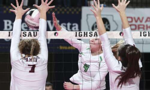 Photos: Osage vs. Grundy Center, Iowa Class 2A state volleyball…