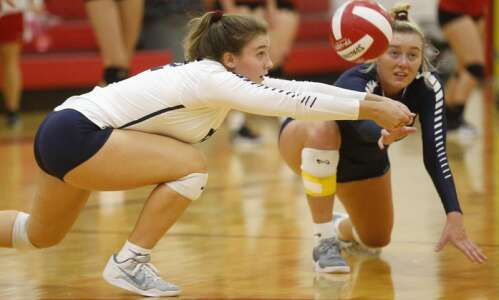 No. 1 Cedar Rapids Xavier volleyball cranking up the defense…