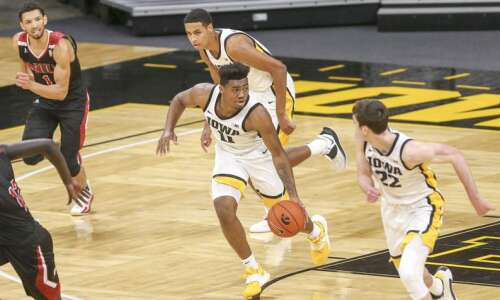 A few words with Iowa basketball player Tony Perkins