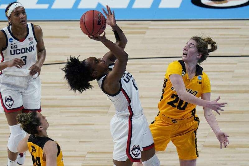 UConn is too big, too long, too good for Iowa in NCAA women's basketball Sweet 16