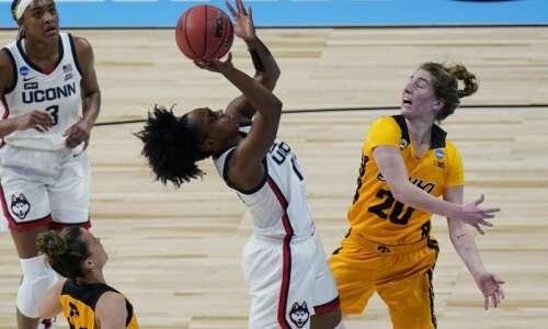 UConn is too big, too long, too good for Iowa…