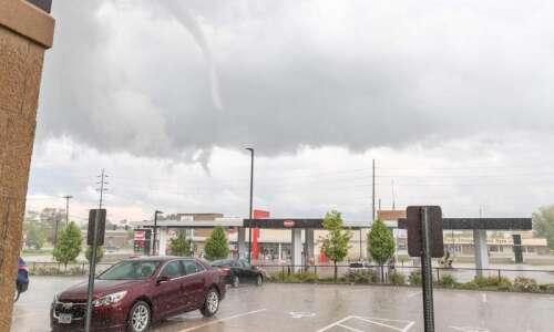 Tornado spotted over Iowa City