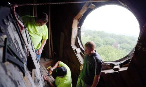 Cornell College clock being restored to continue keeping time