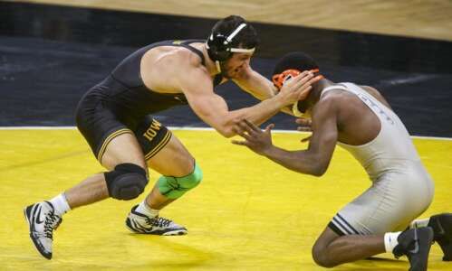Iowa's Michael Kemerer wins from a variety of positions
