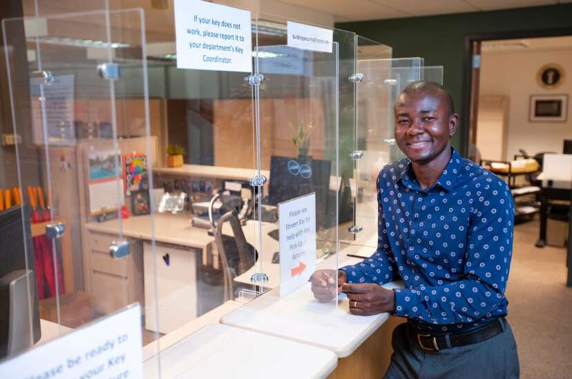 Iowa State students repurpose Plexiglas COVID barriers for class assignment