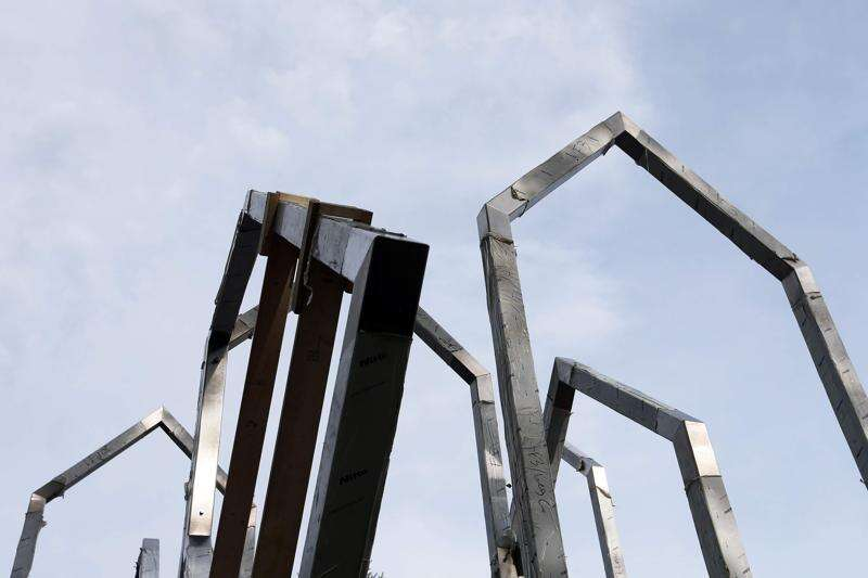 Cedar Rapids westside rises with new flood memorial sculpture and plaza