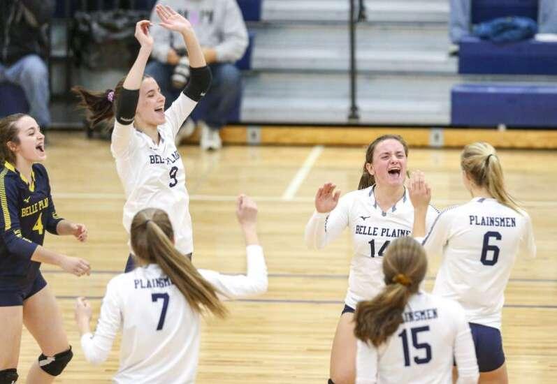 Photos: Springville vs. Belle Plaine, Iowa high school volleyball