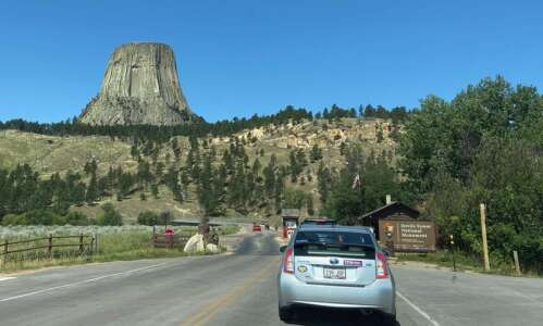 Wyoming's geological oddity, Devils Tower, draws visitors from around the…