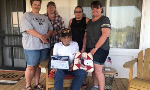 Mt. Pleasant veteran honored with pinning ceremony