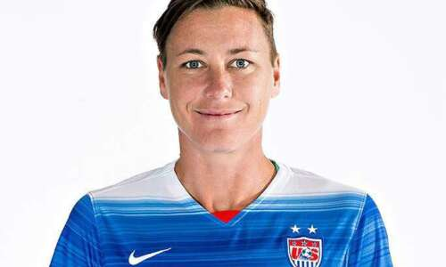US soccer legend Abby Wambach shares message of equality in…