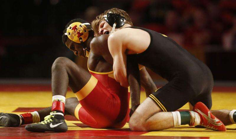 Iowa wrestling notes: All-American Cory Clark out for Iowa State dual