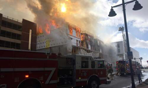 Blaze heavily damages Hieronymus Square construction site, closes nearby areas…
